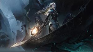 Diana League Of Legends League Of Legends Riot Games Sentinel 4K Digital Art Jungle 7680x4320 wallpaper