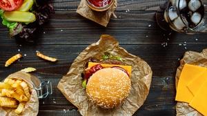 Burger Still Life 5047x3365 Wallpaper