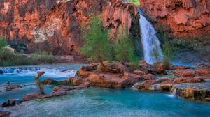 Arizona Havasu Falls Waterfall 2560x1600 Wallpaper