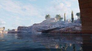 Boat Egypt Assassins Creed Origins Assassins Creed Ancient Old Summer Water Africa Rocks 1920x1080 wallpaper