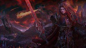 Taisa Kislova Fantasy Art Digital Art Sword Armor Fantasy Armor Shield Dragon Siege 1920x840 Wallpaper