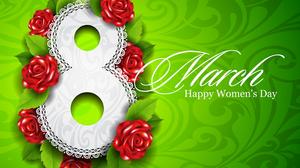 Green Eight Rose Flower Statement Happy Women 039 S Day 1920x1357 Wallpaper