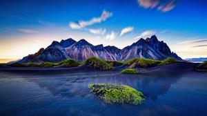 Landscape Mountains Nature Blue HDR Iceland Beach 2880x1620 Wallpaper