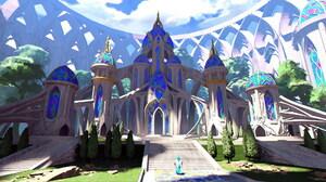 Fantasy Castle 2544x1080 wallpaper