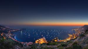 City Landscape Monaco Ocean Sunlight 3840x2160 Wallpaper