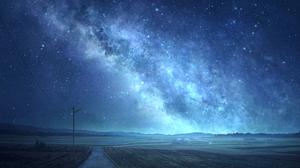 Artwork Digital Art Landscape Mks Sky Stars Field Night Milky Way 1514x1042 Wallpaper