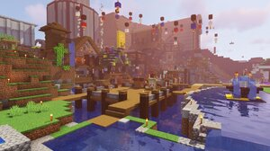 Minecraft Shaders Water House Dream Smp Video Games PC Gaming Screen Shot 1920x1080 Wallpaper