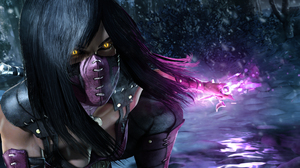 Black Hair Dagger Mileena Mortal Kombat Woman 3840x2160 Wallpaper