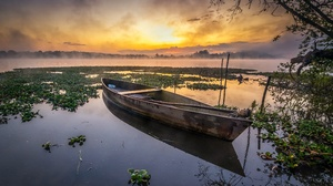 Canoe Lake Nature Sunset 3750x2500 Wallpaper