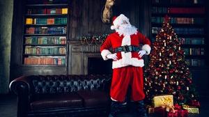 Christmas Tree Gift Room Santa 2000x1335 wallpaper