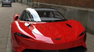 McLaren Speedster 2020 3D Graphics Red Candy Hypercar Car 8 K 7680x5628 Wallpaper