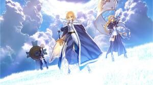 Fate Stay Night Cloud Girl Saber Fate Series Jeanne DArc Fate Series 1920x1200 Wallpaper
