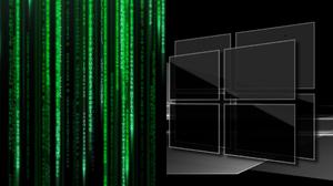 Code Black Background Abstract Fenetre Windows Logo Logo Green Digital Monochrome The Matrix Mashup 1920x1080 Wallpaper