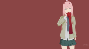 Darling In The Franxx Minimalist Vector Zero Two Darling In The Franxx 3840x2160 Wallpaper
