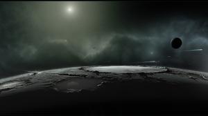 Sci Fi Planet 3840x1080 Wallpaper