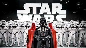 Darth Vader Stormtrooper Figurine 4800x2762 wallpaper