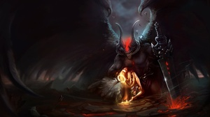 Angel Demon Horns Sword 2312x1431 wallpaper