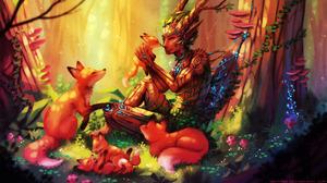 Baby Animal Creature Fox Man Pointed Ears Sylvan 2800x1576 wallpaper