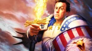 Steven Colbert Warhammer American Flag 1900x1200 Wallpaper