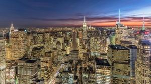 Usa Night City Cityscape Building Skyscraper Manhattan 2048x1366 Wallpaper