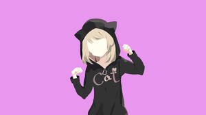 Cat Girl Girl Pink 3200x1700 wallpaper