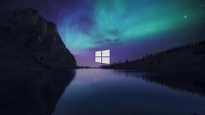 Windows 10 Landscape Aurora 2560x1440 Wallpaper
