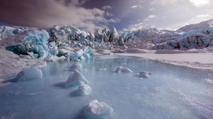 Winter Cold Snow Ice Outdoors Nature Landscape 2560x1440 wallpaper