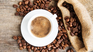 Coffee Coffee Beans Cup Drink Still Life 4955x3492 Wallpaper