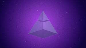 Pyramid Purple Geometric Figures Digital Art 1920x1080 Wallpaper