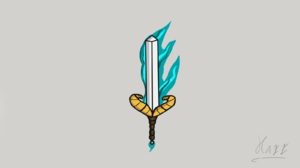 Sword Fire 1600x900 Wallpaper