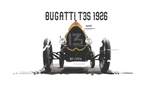 Artistic Bugatti Bugatti Type 35 Car Digital Art Race Car Retro Vintage 3000x1688 Wallpaper