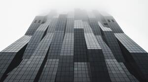 Building Mist Vienna Skyscraper Worms Eye View Vertical 4123x6185 wallpaper