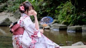 Asian Brunette Girl Model Woman 4872x3248 Wallpaper
