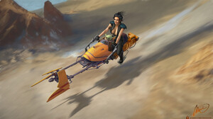 Digital Art Cara Dune Character The Mandalorian Baby Yoda Fan Art Science Fiction Mironishin Story S 1920x1080 wallpaper