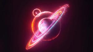 Saturn Galaxy Universe Nebula Supernova Stars Space Artwork Digital Digital Art Minimalism The Big B 5120x2880 Wallpaper