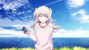 Charlotte Series Anime Girls Tomori Nao Grin 3840x2160 Wallpaper