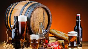 Alcohol Barrel Beer Bottle Drink Still Life 4277x2841 Wallpaper