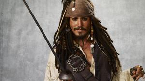 Actor Beard Jack Sparrow Johnny Depp Long Hair Pirate Sword 4000x3000 Wallpaper