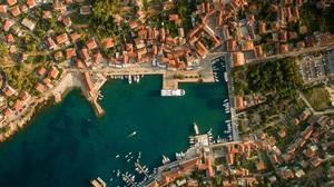Aerial Building Cityscape Dock Ship 1920x1200 wallpaper