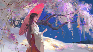 Girl Tree 1920x1080 Wallpaper