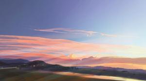 Cloud Hill Sky Sunset 1920x1080 Wallpaper