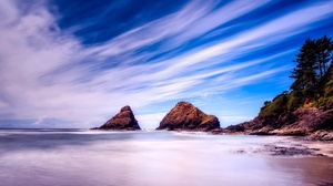 Coast Nature Rock Sky Ocean Horizon 2000x1335 Wallpaper