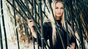 Bamboo Blonde Blue Eyes Girl Long Hair Model Woman 2048x1284 Wallpaper