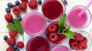 Berry Blueberry Drink Fruit Glass Raspberry Still Life 4000x2672 Wallpaper
