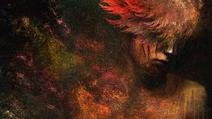 Angel Painting Sad Wings Woman 1920x1080 Wallpaper