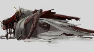Game Art Ghost Of Tsushima Legends Naomi Baker Demon 3417x1634 Wallpaper