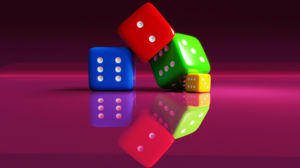Dice 3D Abstract 3D Abstract Minimalism Blender Simple Simple Background 4512x2538 Wallpaper