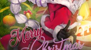 Anime Navidad Christmas Emilia Re Zero Re Zero Kara Hajimeru Isekai Seikatsu Anime Girls 1080x1920 Wallpaper