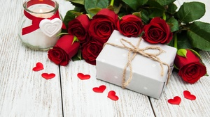 Love Gift Rose Heart Romantic Candle Red Flower 3996x2585 Wallpaper