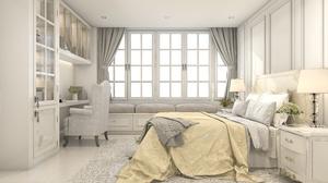 Bed Bedroom Furniture Room 3000x2000 Wallpaper